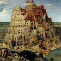 Пазл онлайн: Вавилонская башня