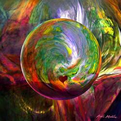 Пазл онлайн: Зеленый шар