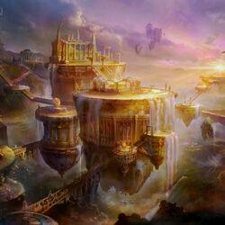 Пазл онлайн: Золотой город