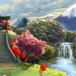 Пазл онлайн: Магическая Япония