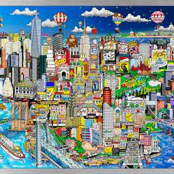 Пазл онлайн: Цветные иллюзии Нью-Йорка