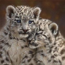 Пазл онлайн: Маленькие леопарды