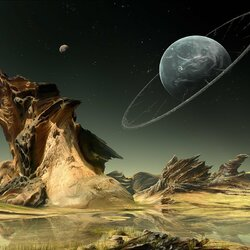 Пазл онлайн: Внеземной пейзаж