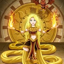 Пазл онлайн: Рапунцель – воин Солнца