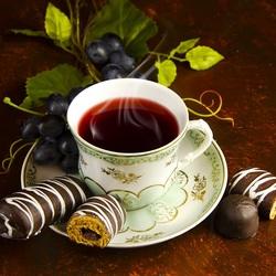 Пазл онлайн: Ароматный чай