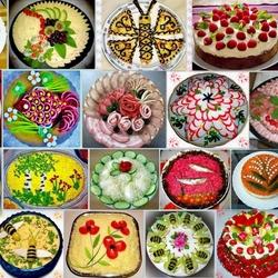 Пазл онлайн: Праздничные блюда