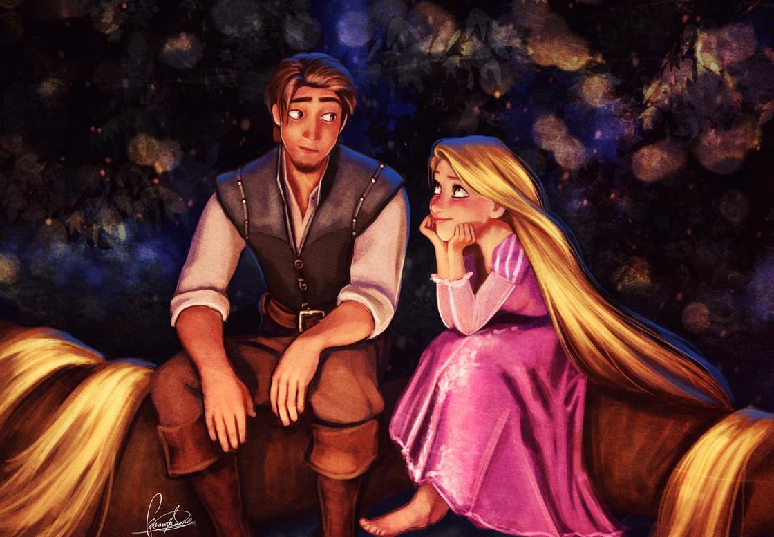 Прикольные картинки принцессы рапунцель и юджина