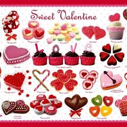 Пазл онлайн: Валентинки