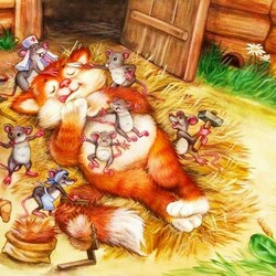 Пазл онлайн: Мыши в пляс
