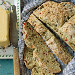 Пазл онлайн: Хлеб с маслом