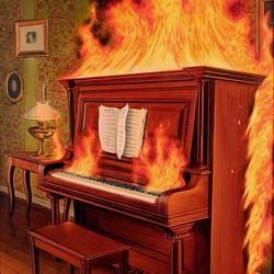 Пазл онлайн: Горящая музыка