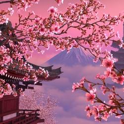 Пазл онлайн: Сакура