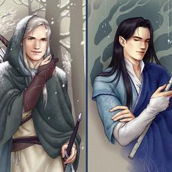 Пазл онлайн: Эльфы Средиземья: Белег и Эктелион
