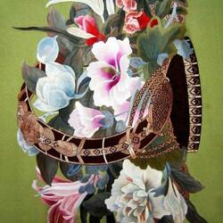 Пазл онлайн: Китайская вышивка Су / Букет цветов