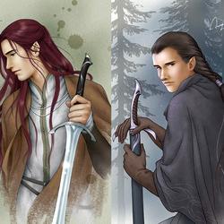 Пазл онлайн: Эльфы Средиземья: Маэдрос и Маэглин