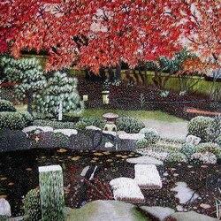 Пазл онлайн: Китайская вышивка Су / В саду