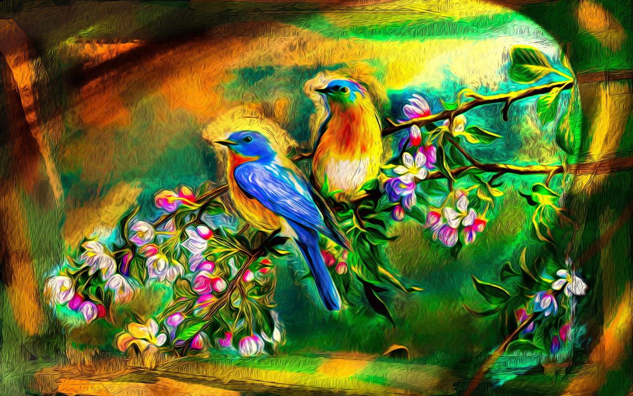 Райская птичка открытка