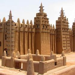 Пазл онлайн: Мечеть Дженне, Мали