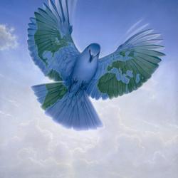 Пазл онлайн: Голубь мира