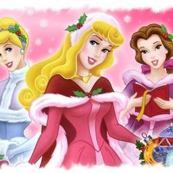 Пазл онлайн: Принцессы зимой
