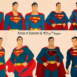 Пазл онлайн: Эволюция Супермена