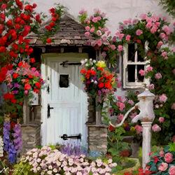 Пазл онлайн: У двери