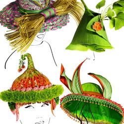 Пазл онлайн: Шляпки