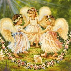 Пазл онлайн: Ангелочки