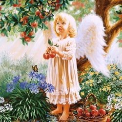 Пазл онлайн: Райские яблочки
