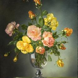 Пазл онлайн: Букет роз