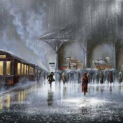 Пазл онлайн: Вокзал