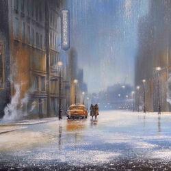 Пазл онлайн: И скрыл нас дождь