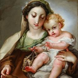 Пазл онлайн: Мадонна с младенцем Христом