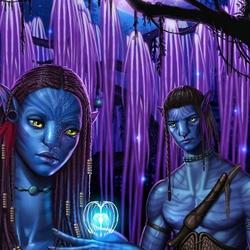 Пазл онлайн: Нейтири и Джек