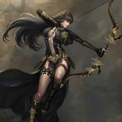 Пазл онлайн: Лучница