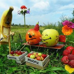 Пазл онлайн: Забавные фрукты