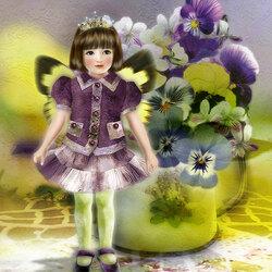 Пазл онлайн: Цветочные эльфы