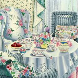 Пазл онлайн: Домашние чаепитие