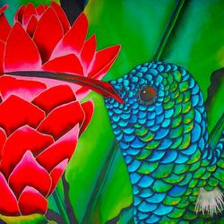 Пазл онлайн: Райская птичка