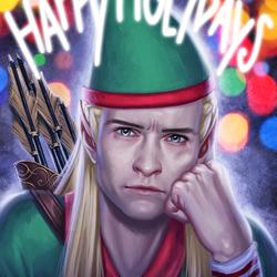 Пазл онлайн: Я не рождественский эльф