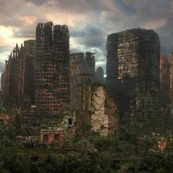 Пазл онлайн: Заброшенный город