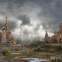 Пазл онлайн: Москва, Апокалипсис