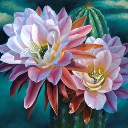 Пазл онлайн: Цветущий кактус