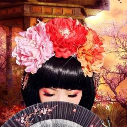 Пазл онлайн: Японская девушка