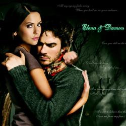 Пазл онлайн: Дэймон и Елена