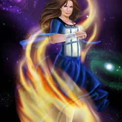 Пазл онлайн: Огненный танец