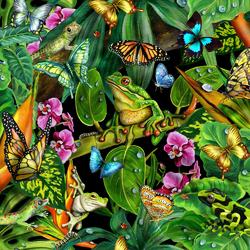 Пазл онлайн: Яркие краски тропиков