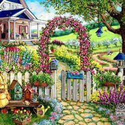 Пазл онлайн: Приглашение в цветущий сад