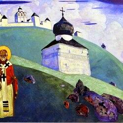 Пазл онлайн: Святой Никола (1916)
