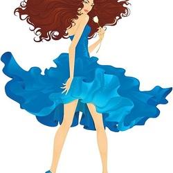 Пазл онлайн: Воздушное платье